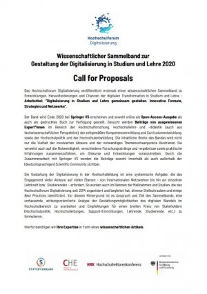 Zum Call for Call for Proposals