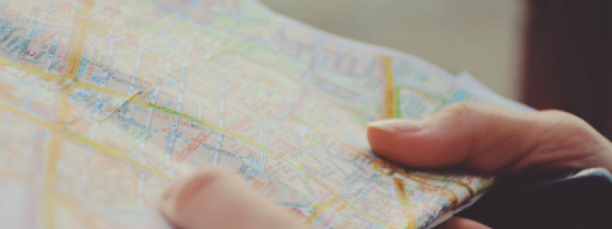 Bilder einer Landkarte