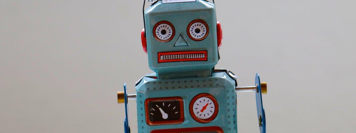 Roboterfigur - vermutlich ohne Künstliche Intelligenz