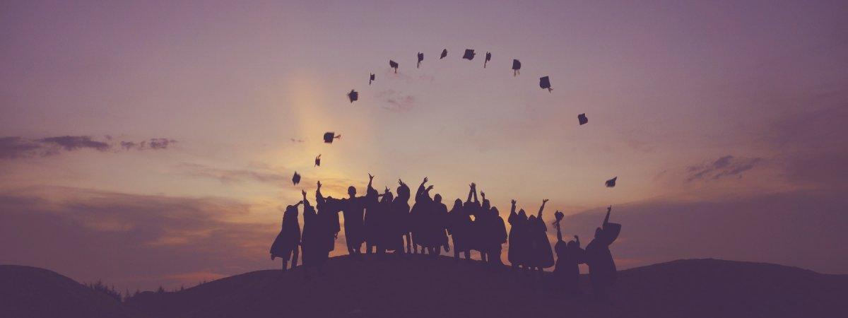Graduiertenfeier.