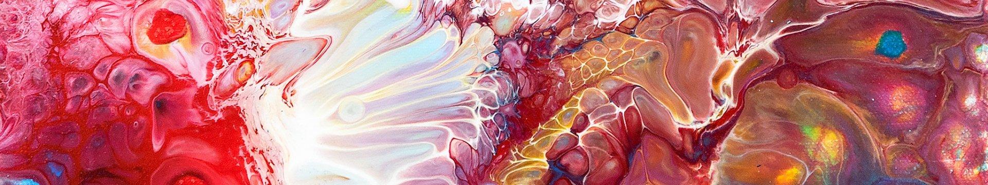 Sich vermischende Farben