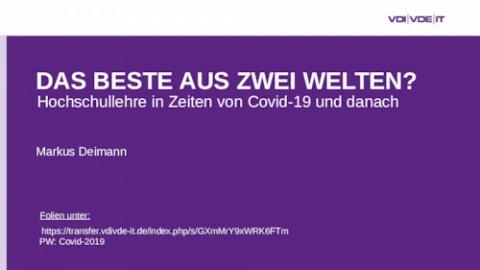 Maßnahmen von Hochschulen, Hochschulverbünden und Politik im Kontext der Covid-19-Pandemie