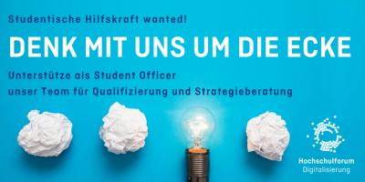 Werde Teil des Teams des Hochschulforums für Digitalisierung!