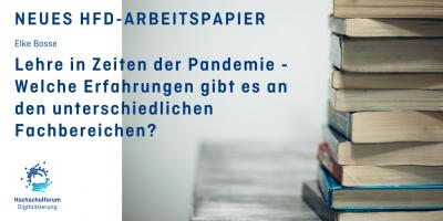 Lehre in Zeiten der Pandemie - Erfahrungen an den Fachbereichen - Arbeitspapier
