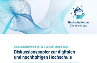 Cover des Diskussionspapiers zur digitalen und nachhaltigen Hochschule