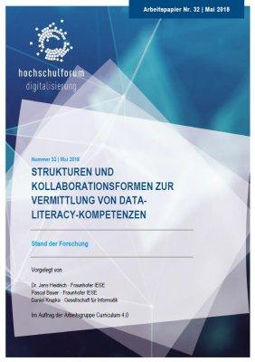"""Cover der Studie """"Strukturen und Kollaborationsformen zur Vermittlung von Data-Literacy-Kompetenzen"""""""