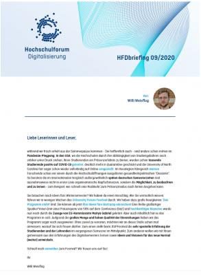 HFDbriefing September 2020