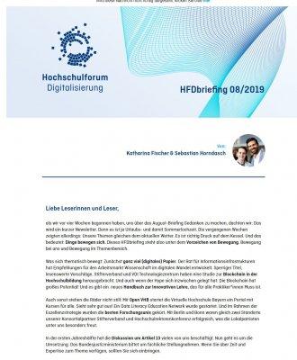 HFDbriefing August 2019