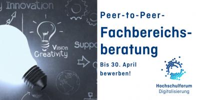Peer-to-Peer-Fachbereichsberatung: Bis 30. April bewerben!