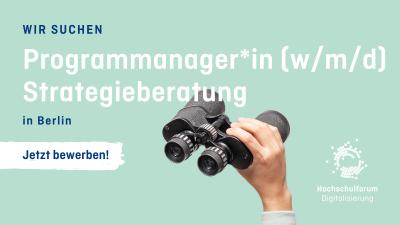 Wir suchen: Programmmanager*in (m/w/d) Stategieberatung in Berlin - jetzt bewerben!