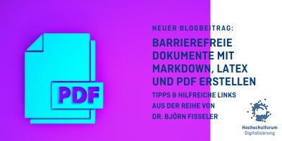 Titelbild barrierefreie Dokumente mit Markdown, LaTeX und PDF