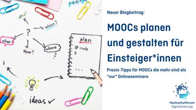 Titelbild: MOOCs planen und gestalten für Einsteiger*innen