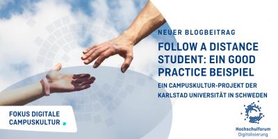 Neuer Blogbeitrag.Follow a Distance Student: Ein Good Practice Beispiel. Ein Campuskultur-Projekt der Karlstad Universität in Schweden.