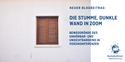 Die stumme, dunkle Wand in Zoom