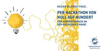 Der 'SemesterHack Hackathon - Eindrücke von der Hochschule Mainz