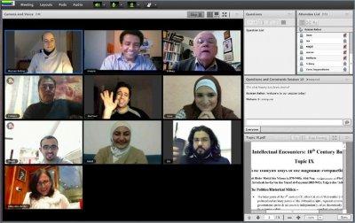 Teilnehmer der Onlinesession sind stets per Videostream präsent