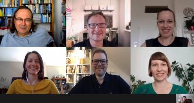 Mitglieder der AG Lernarchitekturen im Videocall