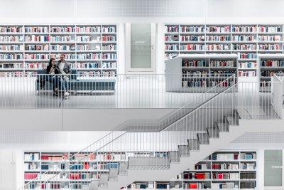 Stuttgarter Bibliothek.