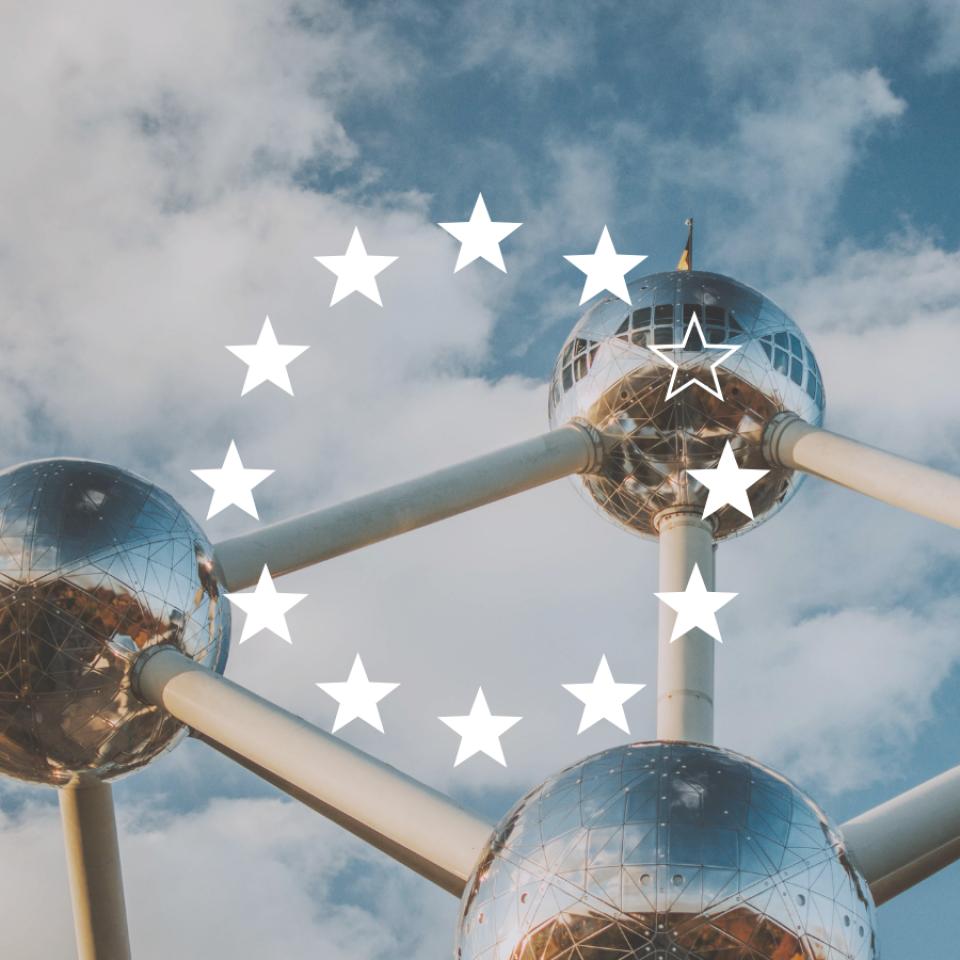 Brüssel mit europäischen Sternenkranz